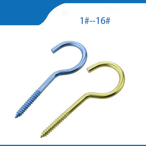 Free shipping Threaded Iron Hook / Light Hook Self-tapping Hook / Sheep Eye Socket Hook / Rings / Sheep Eye Screws