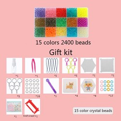 Hot Selling!!! Aqua Beads Set 3D Puzzle Toys with Templates Perler Beads Aquabeads Perlen Kids Educational Toys 5mm Hama Beads