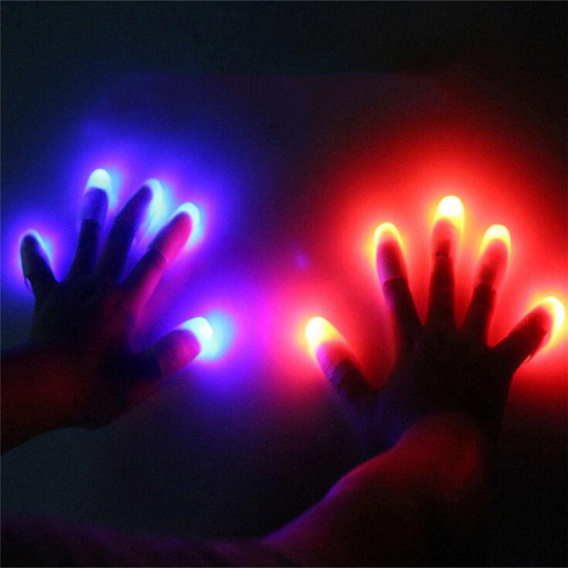 Magic Light up Finger Magic Trick, LED Finger Lamp, Red Thumbs Light, Magic Light up Finger Magic Trick, Fake Finger, Prank Toy Tool