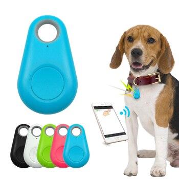 Rastreador GPS inteligente para mascotas Mini localizador Bluetooth resistente al agua Anti-pérdida para perro mascota gato niños llave de la carpeta del coche collar de accesorios