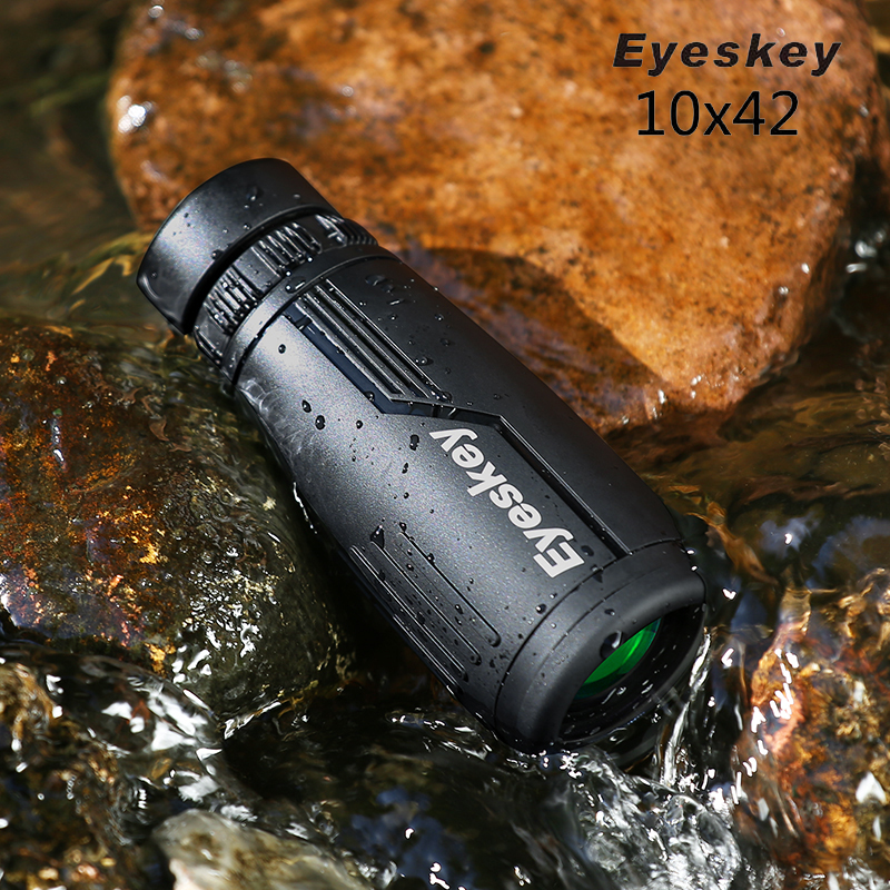 Excellent Eyeskey 10x42 Monocular Telescope Bak4 Prism Optics Outdoor Camping Hunting Binoculars Waterproof Spotting Scope M78 eyeskey 10x42 portable binoculars camping hunting telescope waterproof night vision tourism optical outdoor sports