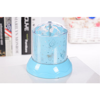 Hot Sale Romance LED Colorful Star Projector Table Lamp with USB For Lovely Rotating Night Light