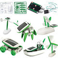 1 X Creative DIY Power Solar Robot Kit 6 In 1 Educational Learning Toy for Kids without box