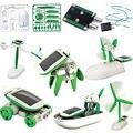 1 X Creativo Energía Solar Robot Kit 6 En 1 Para la Educación de BRICOLAJE Juguete de Aprendizaje para Los Niños sin caja