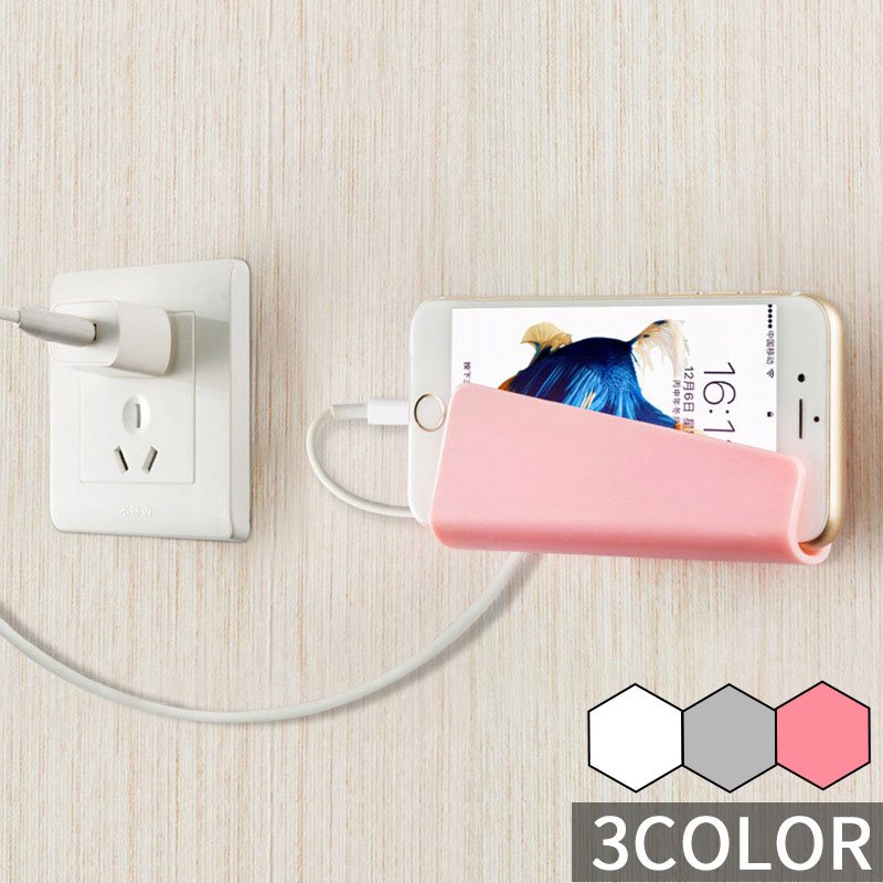 Universal Tablet Wall Mount Stand For Phone With Charging Wall Phone Holder For Samsung Galaxy IPhone Wall Stand 3M Adhesive