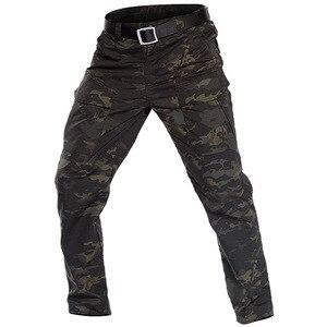 Image 4 - MEGE 2018City Tactical Cargo Pants Men Combat SWAT Army Military Pants Cotton Multi pocket Stretch Flexible Man Casual Trousers