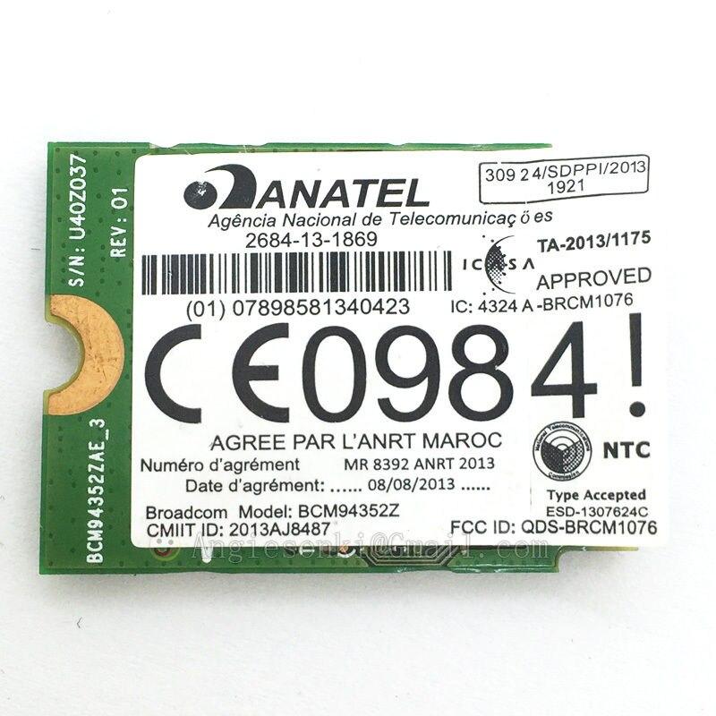 DW1560 6 XRYC 802.11 AC 867 Mbps Bluetooth 4.0 WIFI Carte WIFI NGFF pour Dell XPS 13 9343 Broadcom BCM94352Z Toshiba Acer - 6