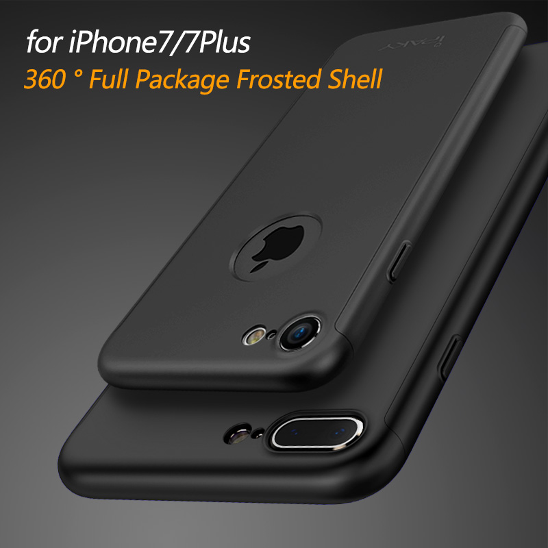 buy online b97b1 ca6fb US $7.99 |for iphone 7 case iPaky Ultra Thin 360 full + Tempered Glass  Screen Protector for iPhone 7 plus case Full Body Cover Fundas Capa-in  Fitted ...