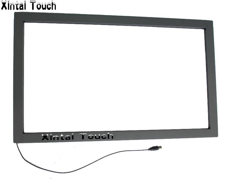 43 inch IR touch screen overlay, 4 points industrial IR touch screen panel kit for monitor,Infrared touch screen frame 18 5 inch infrared 2 points monitor tv ir touch screen overlay