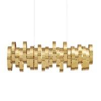 DX Modern Led Pendant Light Designer'S Lighting Fixture Metal Lamp Living Room Bedroom Circles Twine Luminaire Gold Luster