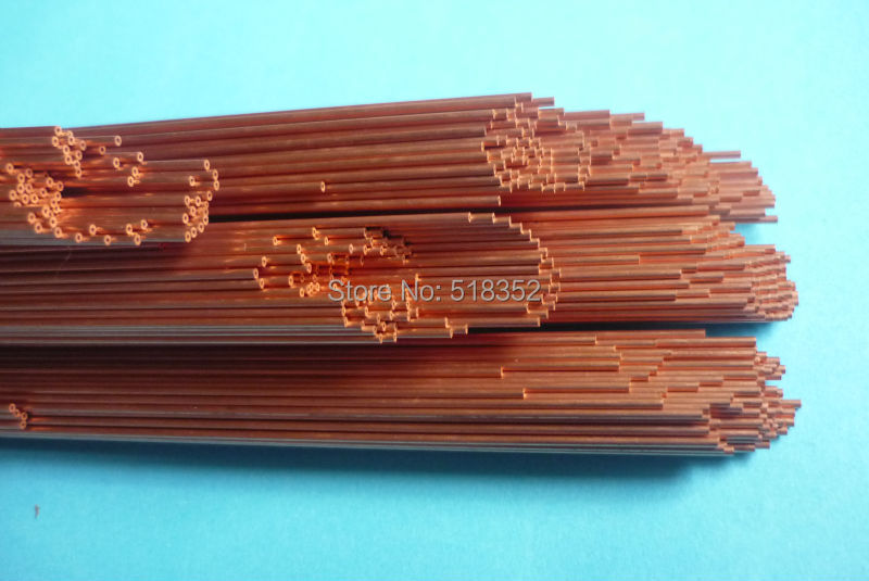 1.7mmx500mm Single Hole Ziyang Copper Electrode Tube for EDM Drilling Machines