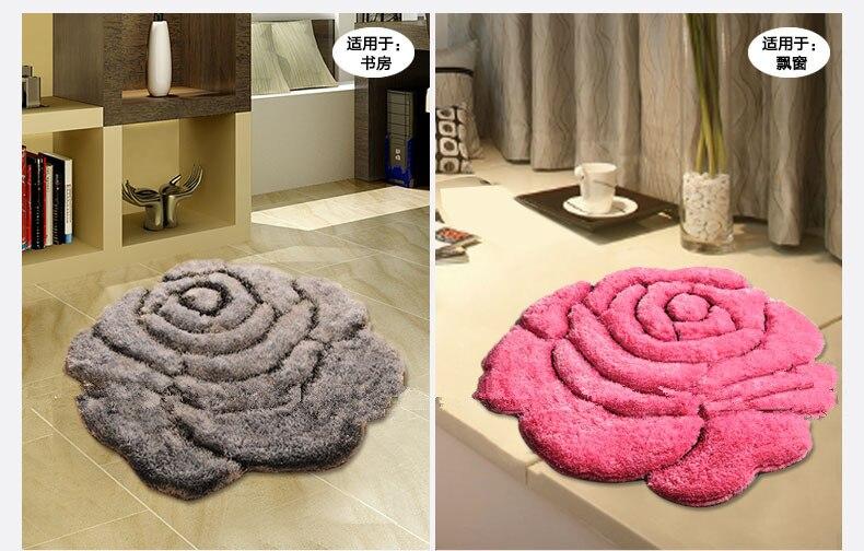 Яркий цвет, 3D Цветочный дизайн, ковер для спальни, коврик для ванной, нескользящий коврик для двери, коврик для пола, большой коврик для ванной комнаты, tapete banheiro