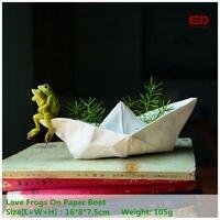 ED Original Quality Design Spring Garden Frog Resin Animal Gnome Statue Flowerpot Ornament Home Desk Fairy