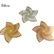 BoYuTe 20Pcs Silver Gold Filigree Metal Windmill Wholesale Pendant Charms for Jewelry Making Diy