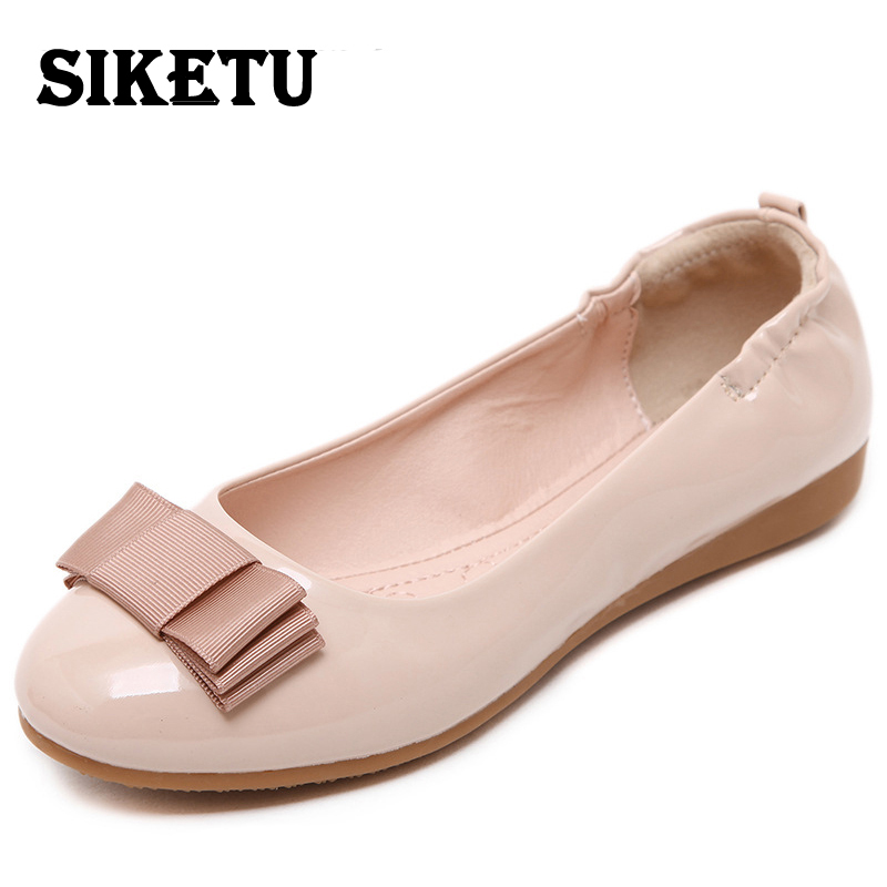 spring autumn loafer women shoes ladies ballet flats woman ballerinas casual shoe sapato zapatos mujer womens shoes plus size 43 2017 New Spring Womens Casual Sweet Shoe Single Shoes Bow Student Comfortable Soft Ol Zapatos Mujer Flats Loafers Ballet Oxford