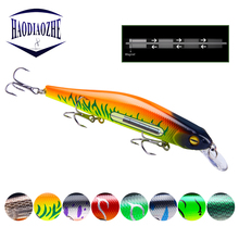 Купить с кэшбэком Minnow Fishing Lures 12.5cm 17g Floating Wobblers Artificial Swim Bait High Quality Bass Pike Jerkbait Isca Pesca Fishing Tackle