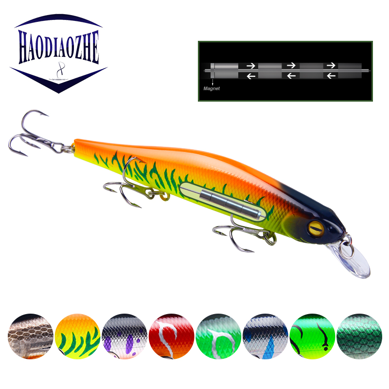Minnow Fishing Lures 12.5cm 17g Floating Wobblers Artificial Swim Bait High Quality Bass Pike Jerkbait Isca Pesca Fishing Tackle image