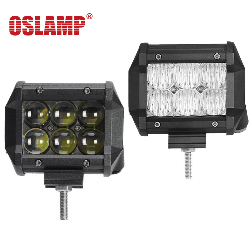 Oslamp 5D / 4D LED Work Light Bar 30w 4 12v Spot Beam LED Driving Lamp Offroad 24V ATV Offroad Caravan Trailer Camper 4x4 Truck