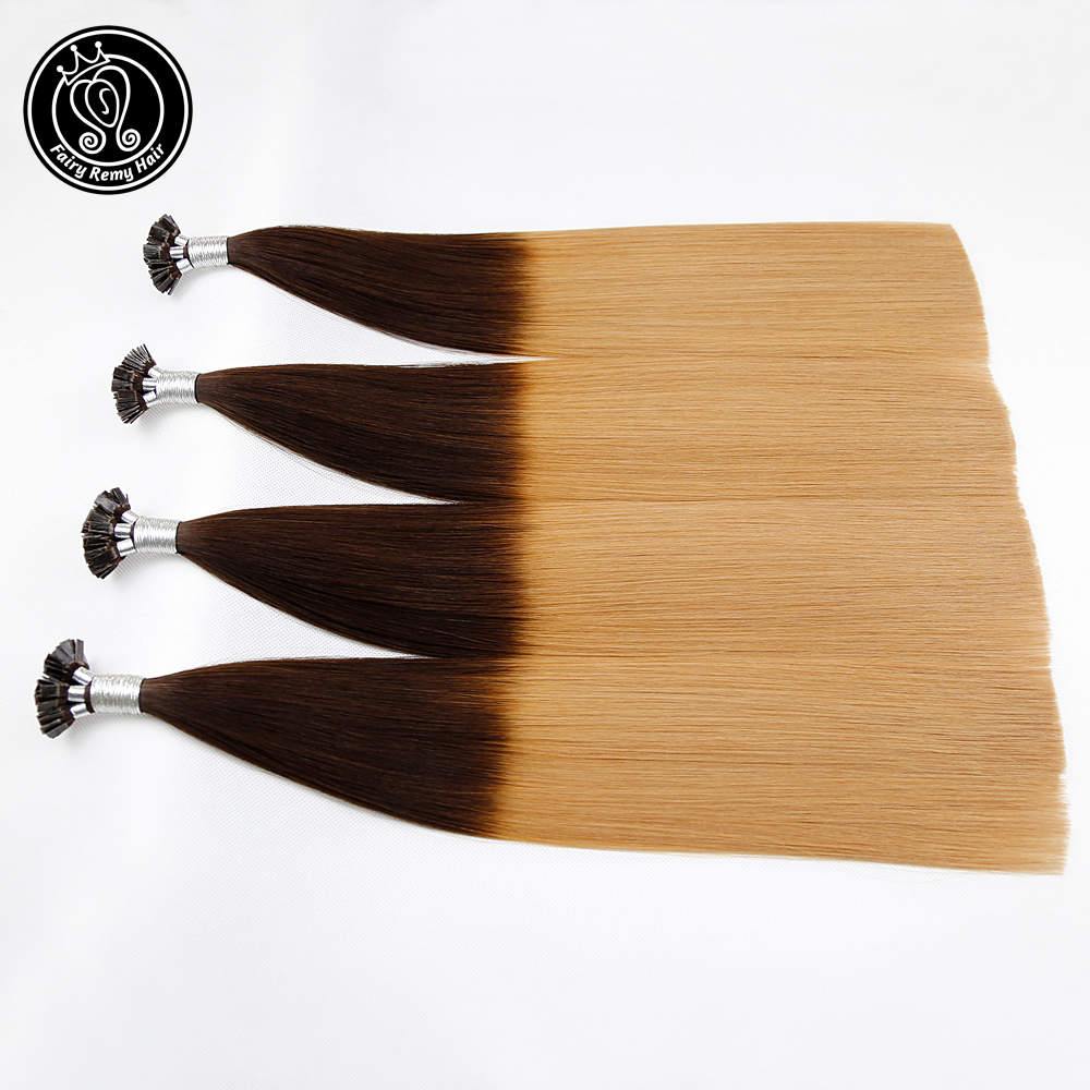 Fairy Remy Hair 0.8g/s 18 Inch Remy Double Drawn Flat Tip Human Hair Extension Balayage Pre Bonded Hair Extensions 80g/