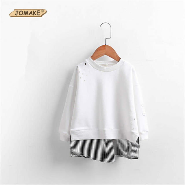 New Fashion Kids Costumes Striped Patchwork T-Shirts For Girls/Boys Pure Cotton Soft Children Tops 2017 Spring Infant'S Clothes
