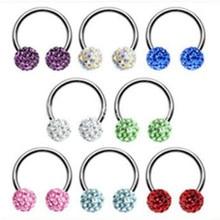 1 pcs Nose Septum Ring Lip Nipple Eyebrow Lobe Rings Hoop Horseshoe Ear Piercings for Women Men Steel Body Jewelry