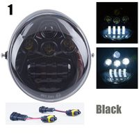 DOT E9 Harley Motorcycle Aluminum Black Headlight For Harley V Rod VROD VRSCA VRSC Headlight VRSC/V ROD Motorcycle LED HEADLIGHT