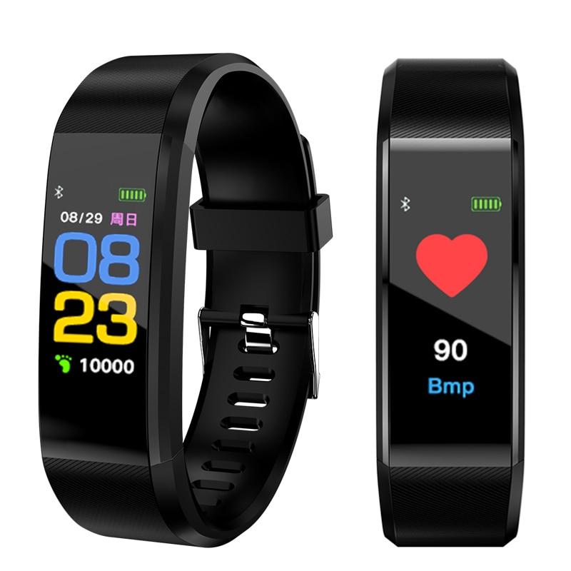 Sport Watch Women Men Intelligent Watch Bracelet Heart Rate Blood Pressure Monitor Color Screen Vibrating Alarm Clock Fitbits