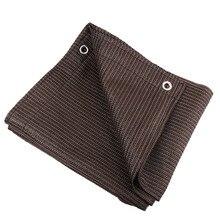 6 игл толстый высококачественный кофейный цвет Кемпинг солнцезащитный навес Сетчатое покрытие для крыши машины тент Солнцезащитная сетка навес парус много размеров