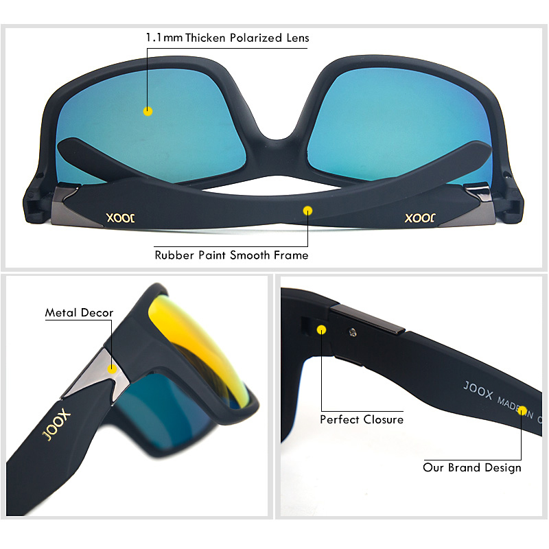 Image 2 - 2019 New Men Polarized Sunglasses 1.1mm Thicken Lens Fashion Brand Outdoor Sunglasses for Men Elastic Rubber Paint Smooth Frame-in Men's Sunglasses from Apparel Accessories on AliExpress