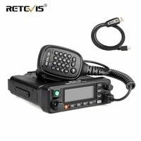 RETEVIS RT90 DMR Digital Mobile Radio Car Walkie Talkie (GPS) 50W Dual Band VHF UHF Ham Amateur Radio Station Transceiver+Cable