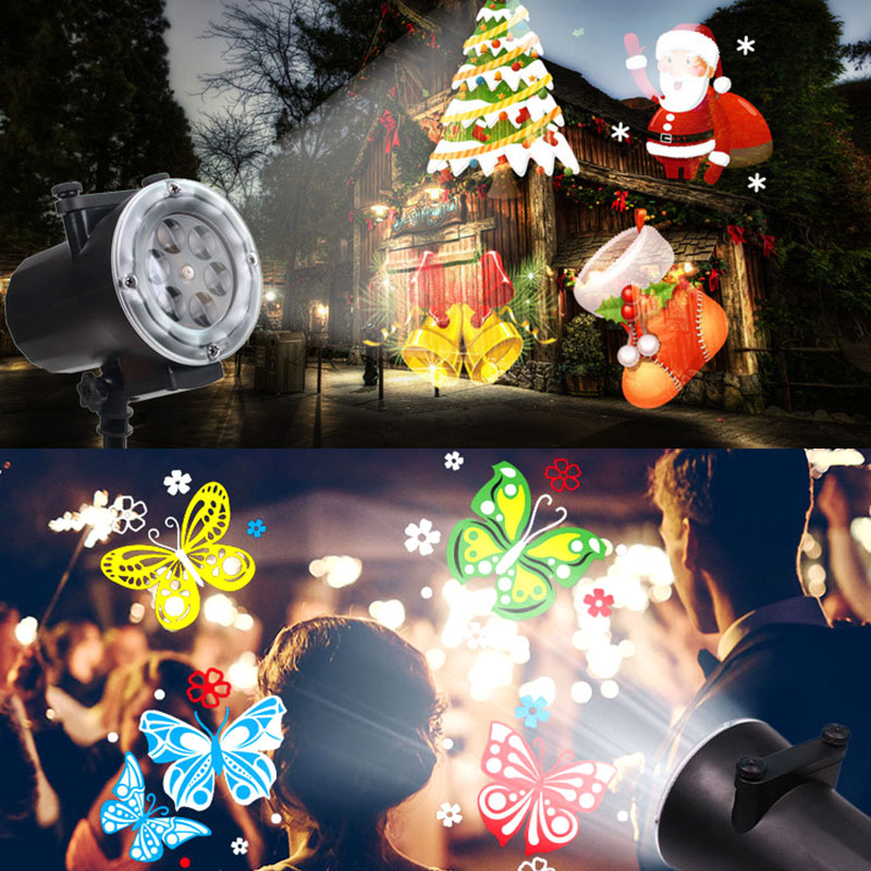 Motion LED Christmas Snowflake Lights Slides Projector ...