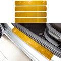 Para chevrolet aveo de sonic 2011-2013 carro do peitoril da porta scuff pedal bem-vindo limiar proteger adesivos 4 pcs estilo do carro reflexivo