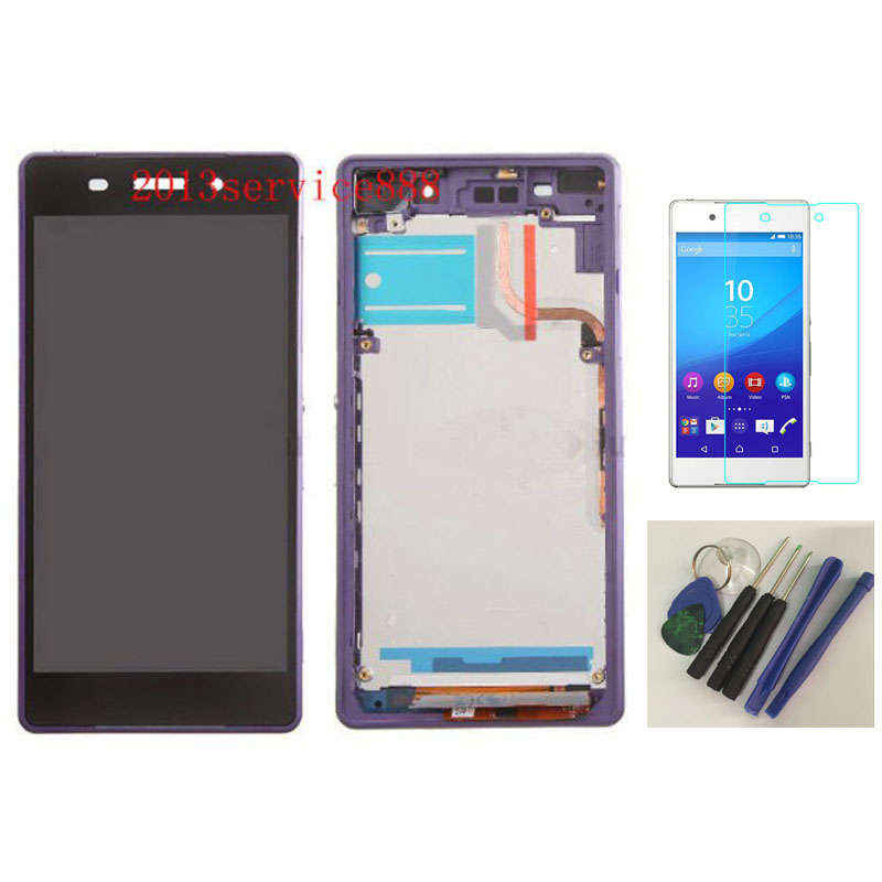 ФОТО New LCD Touch Screen Digitizer +Frame Assenmbly For Sony Xperia Z2 D6502 D6503 D6543 purple With free tools