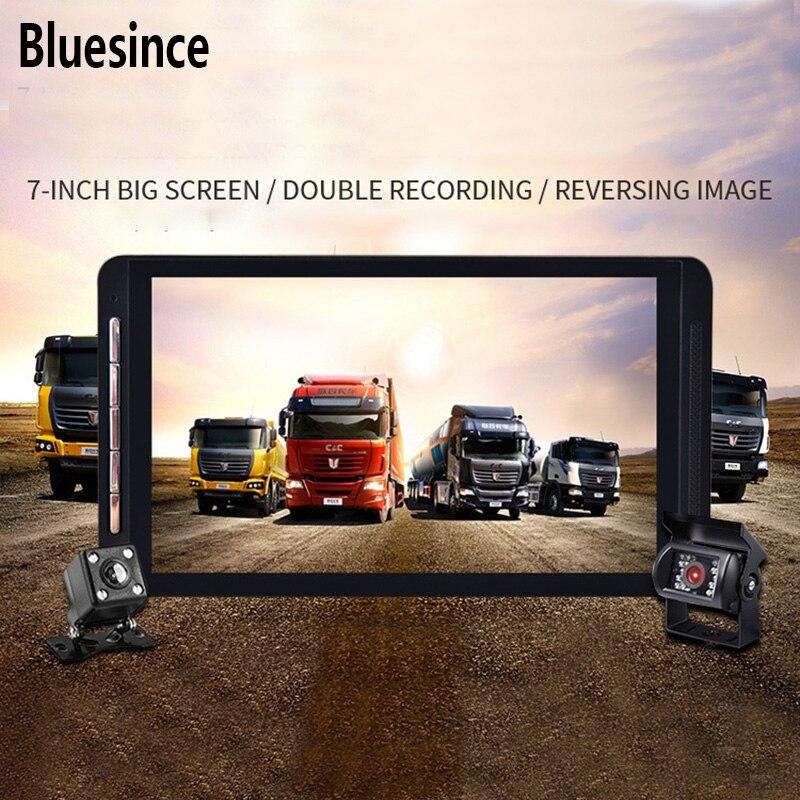 Bluesince Lente Dupla Construído em GPS WiFi FHD 1080 p Frente + VGA Traseira Da Câmera Do Carro DVR Gravador de 170 Graus traço Cam Para Carro Truck Bus
