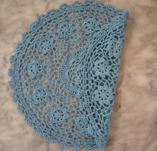 New lace cotton placemat cup coaster mug kitchen Christmas dining table place mat cloth Crochet tea coffee drink doily dish pad in Mats Pads from Home Garden