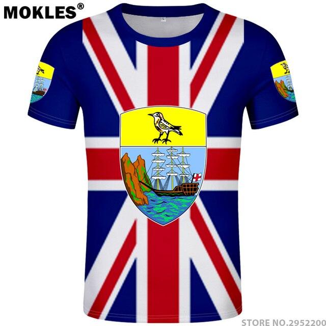 510bc80aa678c SAINT HELENA t shirt diy free custom made name number shn T-Shirt nation  flag english country college logo photo text sh clothes