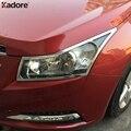 Для Chevrolet Cruze 2009 2010 2011 2012 2013 2014 хромированный чехол на переднюю головку автомобиля  накладка на переднюю лампу  рамка для фар  автомобильный С...