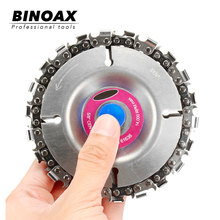 BINOAX 22 Tooth Grinder Chain Disc Wood Carving 4 Inch For 100/115mm Angle