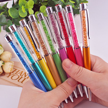 18 цветов кристальная шариковая ручка модный креативный стилус для письма канцелярская ручка для офисов и школ шариковая ручка черный синий 1,0 мм