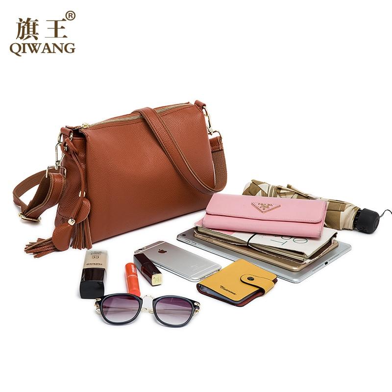 qiwang vaca macia bolsa de Material : Top Layer Pebble Cowhide Leather