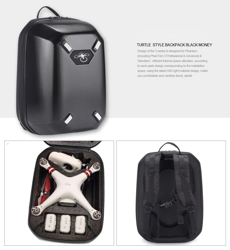 For DJI Phantom 3 Waterproof Backpack Shoulder Hardshell Box Case Bag Box
