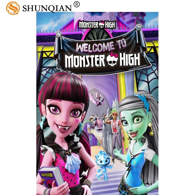 US $3.03 26% OFF Best Nice Custom Monster High Poster High Quality Wall  Poster Home decoration Silk Poster For Bedroom-in Wall Stickers from Home &  ...