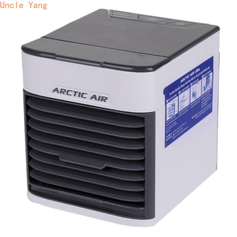 Mini climatiseur portatif à trois vitesses de refroidisseur d'air avec le purificateur d'humidificateur de lumière LED pour la livraison directe de bureau à domicile
