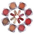 1 Caja de Mate de Uñas Serie Del Arte Del Clavo Del Brillo Del Oro Rojo espejo Brillo Del Polvo Del Polvo 8 Colores Manicura Del Arte Del Clavo En Polvo decoración
