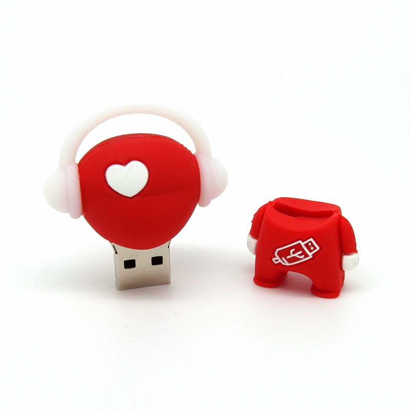 usb flash drive red love heart music boy pendrive 4GB/8GB/16GB/32GB usb2.0 stick mini computer gift disk cle usb