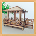 Ancient architecture in China Four corner pavilions  diy puzzle building sand table self-restraint model