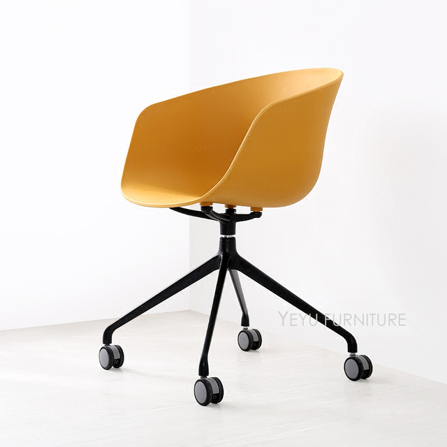 High Quality Modern Design Plastic And Metal Swivel Office Computer Study Chair With  Wheel, Nice Fashion Design