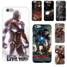 Rubber Zachte Tpu Telefoon Case Cover Shell Iron Man Ironman Voor Apple Iphone 4 4S 5 5C 5S se 6 6S 7 8 Plus X Xs Max Xr(China)