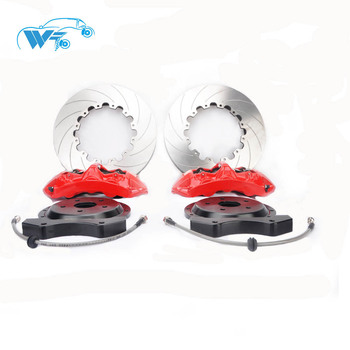 KOKO RACING GT6 red color brake caliper 380*34mm drilled disc 20 inches front wheel shipping to Bahrain for 2016 Audi S6