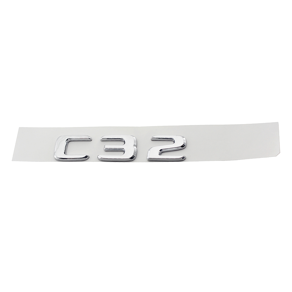 Flat Gloss Glossy Black Trunk Letters Emblem Emblems Badge for Mercedes Benz C43 C63 C63s C300 C350 4MATIC AMG V8 BITURBO 2017 in Automotive Interior Stickers from Automobiles Motorcycles
